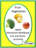 Fruits & Vegetables Cut and Paste Fine Motor Special Education Autism Resources
