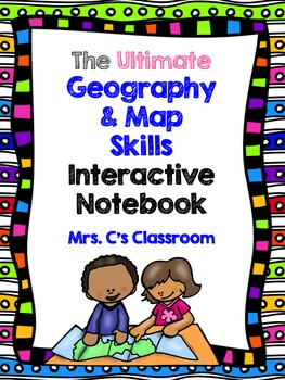 Interactive Notebook Bundle - GEOGRAPHY and MAP SKILLS (Social Studies)