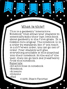 Geometry Interactive Notebook {First Grade}