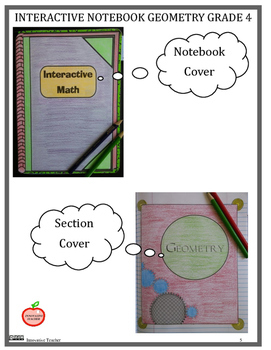 Interactive Math Notebook Geometry Grade 4