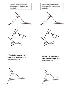 Interactive Notebook Geometry Interior and Exterior problems