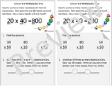 Interactive Notebook Go Math Chapter 3 Notes Grade 4