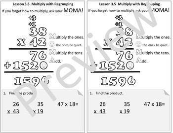 Interactive Notebook Go Math Chapter 3 Notes Grade 4