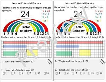 Interactive Notebook Go Math Chapter 5 Notes Grade 4