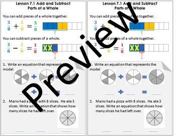 Interactive Notebook Go Math Chapter 7 Notes Grade 4
