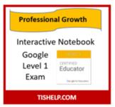 Interactive Notebook - Google Level 1 Exam
