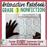 Interactive Notebook: Grade 3 Reading Informational {Cover