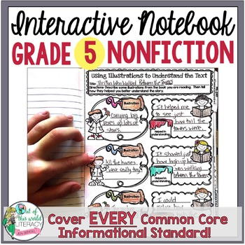 Interactive Notebook: Grade 5 Reading Informational {Cover All Grade 5 RI CCSS}