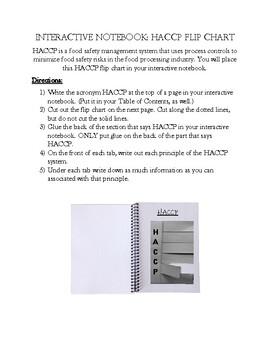 Interactive Notebook: HACCP Flip Chart