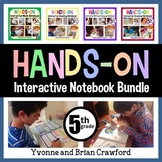 Interactive Notebook Fifth Grade Common Core Bundle with Scaffolded Notes