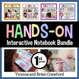 Interactive Notebook First Grade Common Core Bundle with Scaffolded Notes