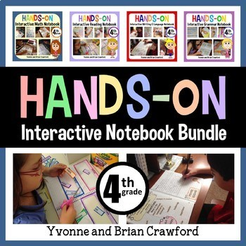 Interactive Notebook Fourth Grade Common Core Bundle with Scaffolded Notes