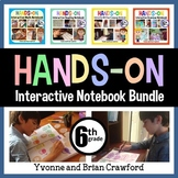 Interactive Notebook Sixth Grade Common Core Bundle with Scaffolded Notes