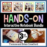 Interactive Notebook Third Grade Common Core Bundle with Scaffolded Notes