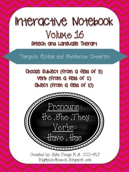 """Interactive book """"He/She/They"""" & """"Have/Has"""" Sort, Sentence"""