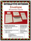 Interactive Notebook (INB) Envelope Fill and Save Tool Kit Printable