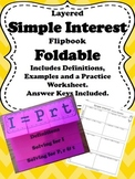 Interactive Notebook (INB) Simple Interest Foldable and Practice Worksheet