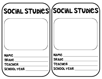Interactive Notebook / Interactive Journal Cover Page