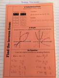Interactive Notebook Inverse Functions Notes