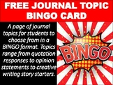 Interactive Notebook Journal BINGO