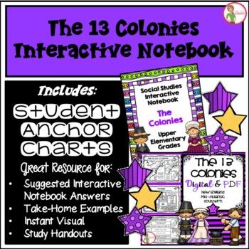 Interactive Notebook / Journal - COLONIES / COLONISTS - Social Studies (Gr 3-5)