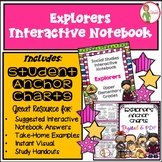 EXPLORERS - INTERACTIVE NOTEBOOK & ANCHOR CHARTS COMBO - Grades 3-5