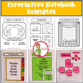 Interactive Notebook / Journal - GREAT DEPRESSION- Social Studies