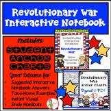 REVOLUTIONARY WAR INTERACTIVE NOTEBOOK & (DIGITAL & PDF) A