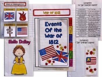 Interactive Notebook / Journal - THE WAR of 1812 - Social Studies (Gr. 3-5)