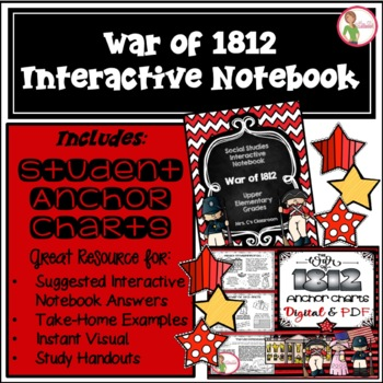 Interactive Notebook / Journal - THE WAR of 1812 - Social