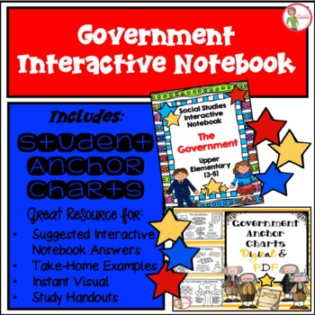 Interactive Notebook / Journal - The GOVERNMENT - Three Branches (Gr. 3-5)