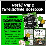 WORLD WAR 1 - INTERACTIVE NOTEBOOK & ANCHOR CHARTS COMBO