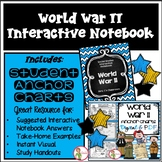WORLD WAR 2  - INTERACTIVE NOTEBOOK & ANCHOR CHARTS COMBO
