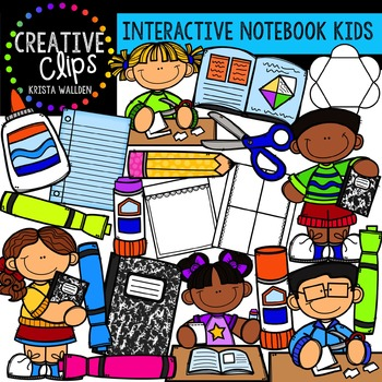 Interactive Notebook Kids {Creative Clips Digital Clipart}