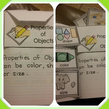 Interactive Notebook Science: Properties of Objects (Spani