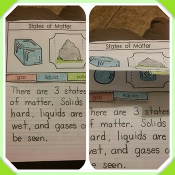 Interactive Notebook Science-States of Matter (Spanish and