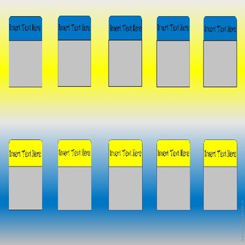 EDITABLE Interactive Notebook Labels