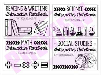 Interactive Notebook Labels (ISN)