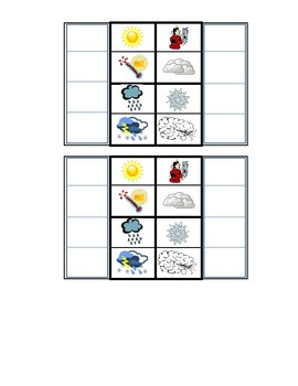 Interactive Notebook/Lapbook Weather Foldable