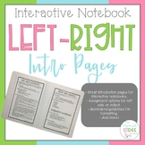 Interactive Notebook Left/Right Intro Page