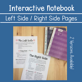 Interactive Notebook ~ Left Side /Right Side Pages