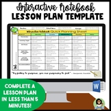 Interactive Notebook Lesson Plan Template