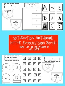 Interactive Notebook Letter Identification FREE Sample