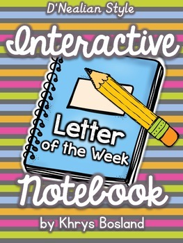 Interactive Notebook {Letter of the Week} D'nealian Style