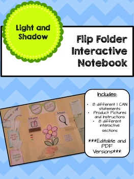 Lapbook/Interactive Notebook Light and Shadow- EDITABLE