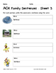Literacy Interactive Notebook Pages - ACK Word Family