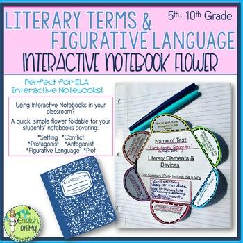 Interactive Notebook-Literary Terms-6-Petal Flower