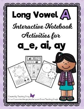 Long Vowel a Interactive Notebook