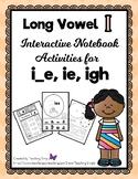 Long Vowel i Interactive Notebook Activities - RTI - Phonics