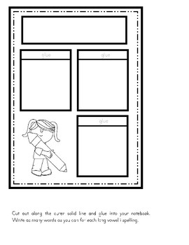 Long Vowel i Interactive Notebook Activities - RTI - Phonics